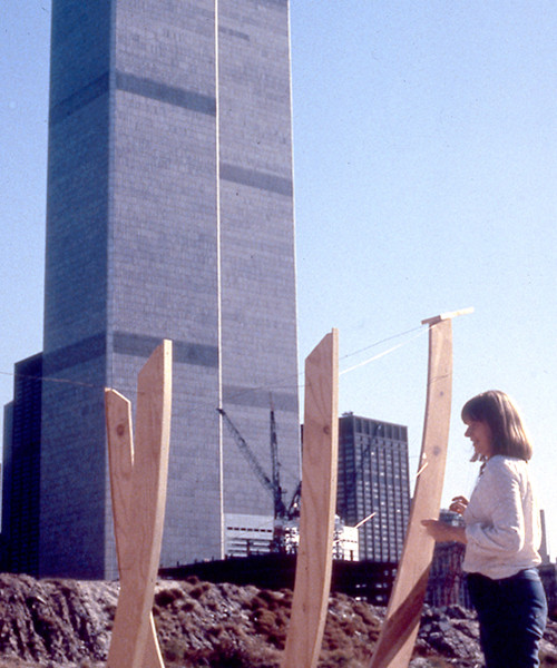 Boat with Gail Addiss and the World Trade Center