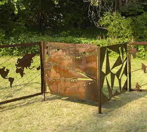 Can We Acknowledge?, 4' x 25' x 4', steel, 2003