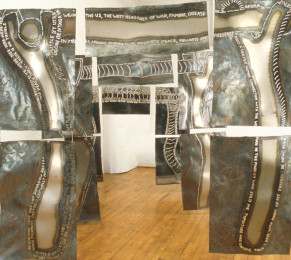 Ntlomaw/WhY Installation, 6' x 7' x 25', steel, 1997