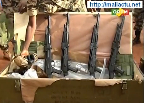 Captured weapons shown on the nightly news.